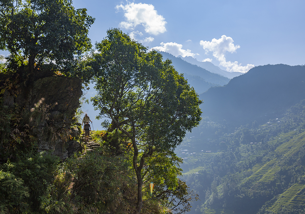Jeeps can only take you so far into the Nepalese Himalayan Mountains, the rest is up to you.