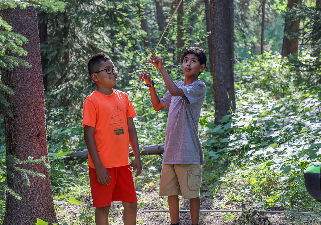 Teamwork is important when setting up camp in the backcountry, and SOS not only teaches youth how to backpack successfully, but also how to enjoy the outdoors while building friendships.