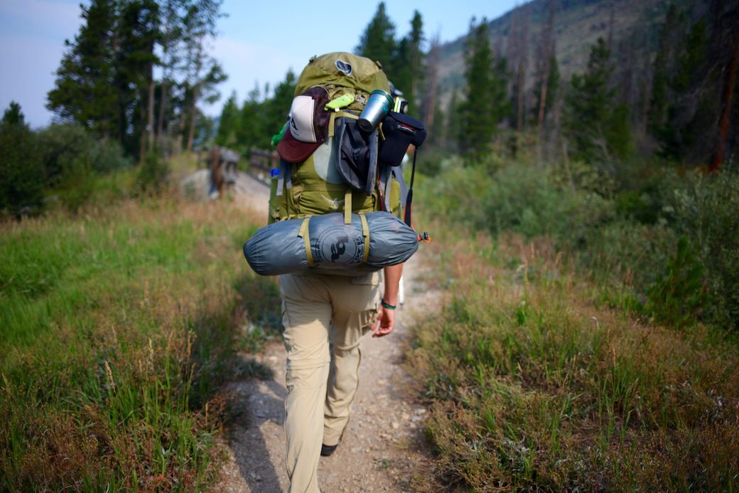 Hikers trekking along the CDT near Grand Lake, CO, which is also the headwaters of the Colorado River.